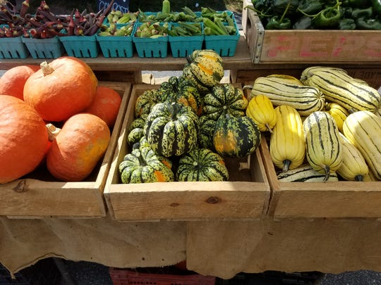Winter squash is available now at tailgate markets.