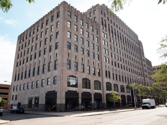 The Albert Kahn Building in New Center, pictured here,