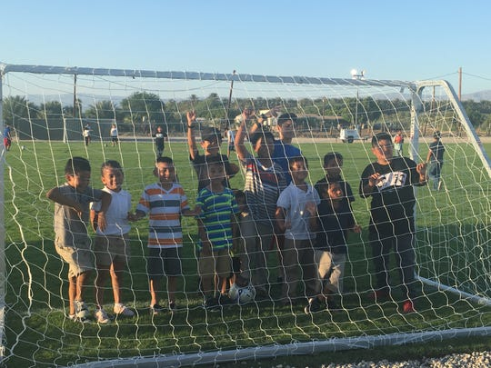 Children from the Eastern Coachella Valley community of Oasis will now have a place to play soccer after the first field was opened on Sept. 8.