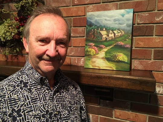 Bobby Vee's painting of the Cotswolds in England has