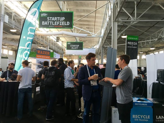 TechCrunch Disrupt's Startup Battlefield, features