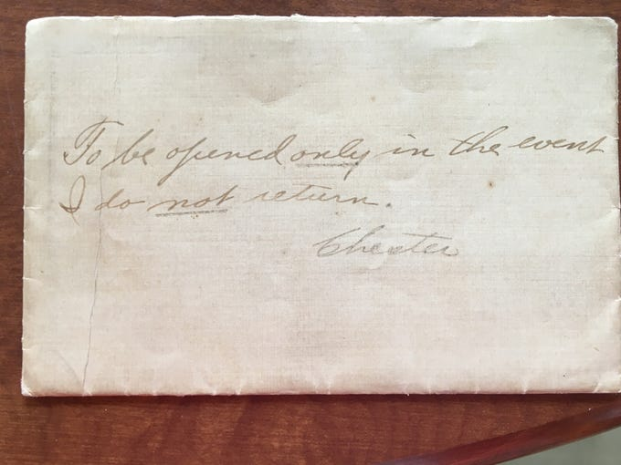 Chester Schulz' last letter home to be opened only