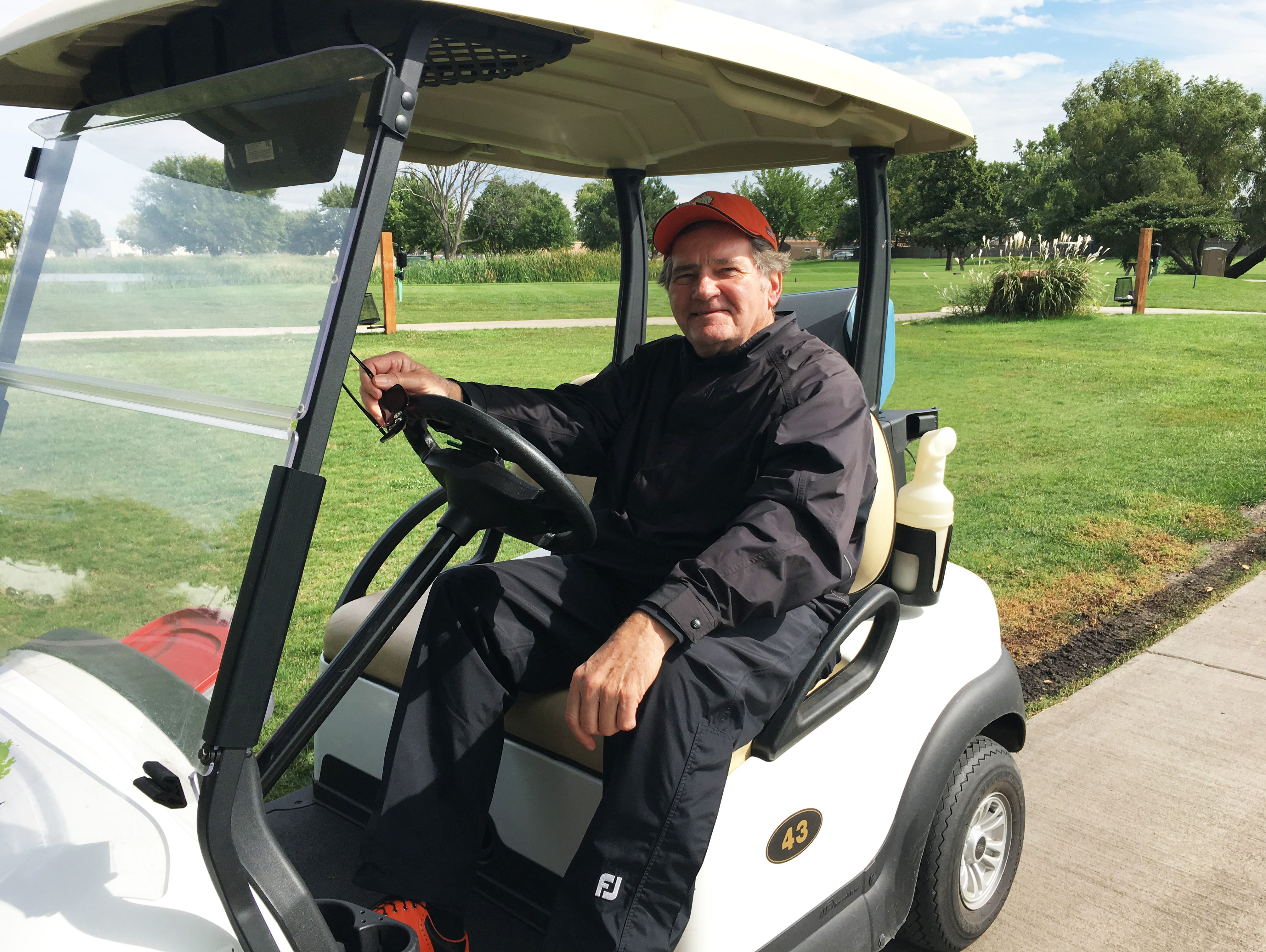 Former Washington assistant golf coach Ken Martens at the second round of the Boys City Golf Meet at Elmwood Golf Course on Tuesday, Sept. 13.
