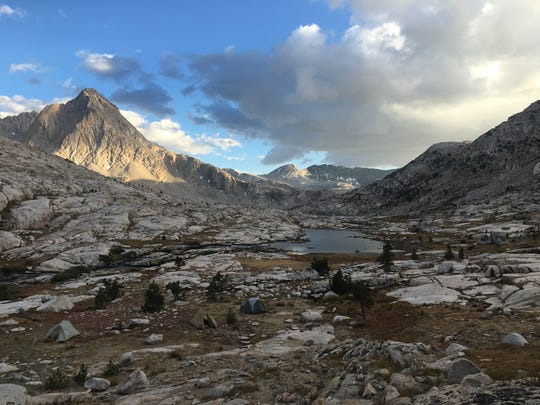 A campsite in California's amazing Evolution Basin. If you want to see this for yourself you have to earn it.