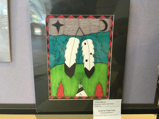 Mescalero sophomore Cedric Barcus originally created this design as the proposed cover for the Mescalero Apache Tribal Code.