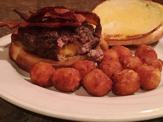 Stuffed cheeseburger from Woodland Creek Supper Club.
