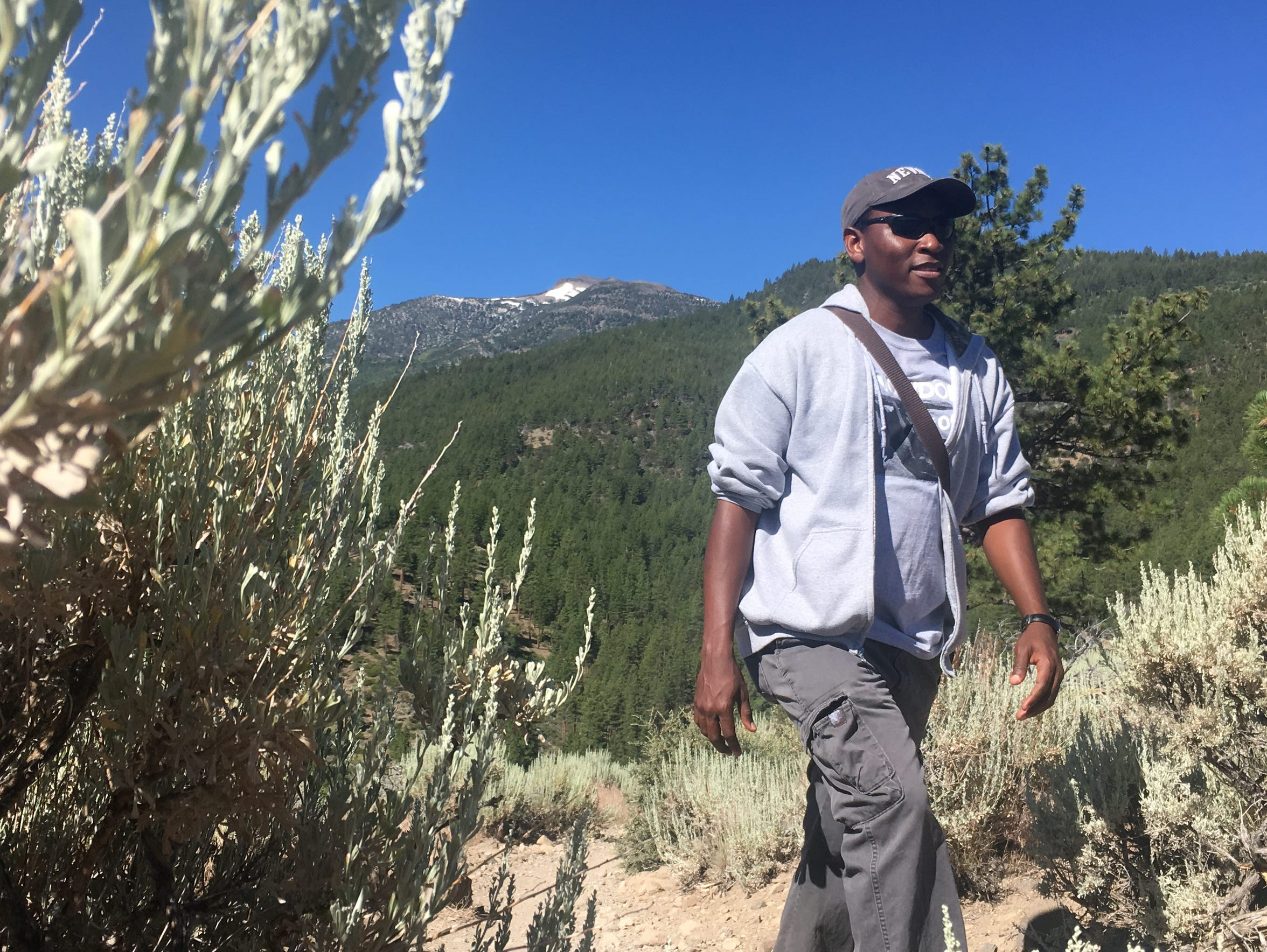 Hiker Israel Borokini of Reno says people are often