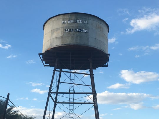 Outside the Coachella Valley History Museum now stands the rehabilitated M.H. Whittier Co. water tower, for which the museum has been raising funds during the last several months.