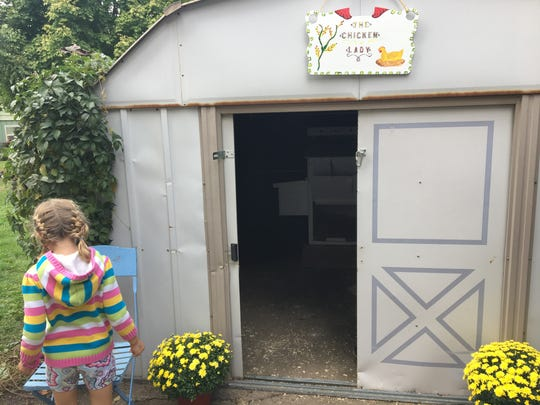 Michelle Wilson's chicken coop is in a shed in her backyard. She showcased her coop on the Tour de Coop Saturday, Oct. 1, 2016.
