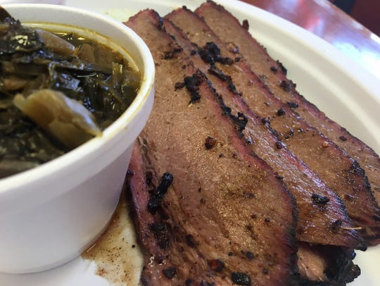 Brisket, which is only served Wednesdays, is smoked