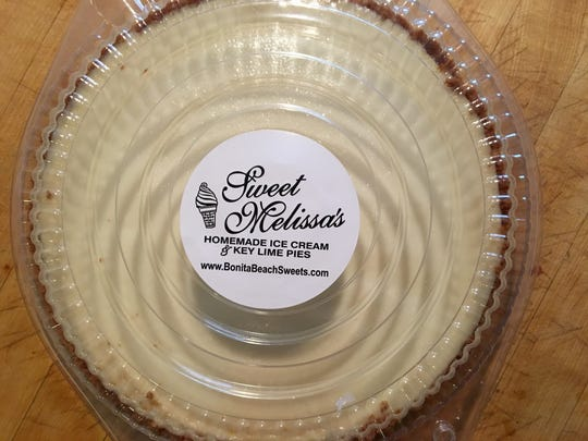 A Key lime pie from Sweet Melissa's Ice Cream Shoppe in Bonita Springs.