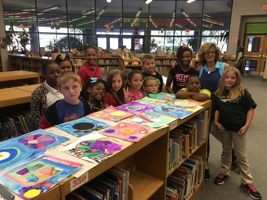 Charles Burke Elementary students recently participated in a Dot Day art project. The work will be on display beginning Oct. 10.