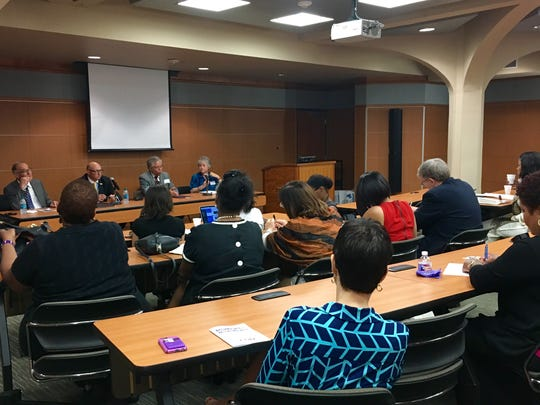 """LSU welcomed panelists from universities across the state for """"Moment or Movement"""" on campus Oct. 3-4."""