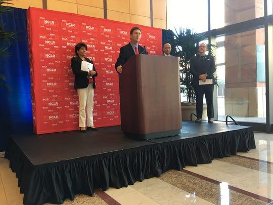 Phoenix Mayor Greg Stanton speaking at the NCLR announcement