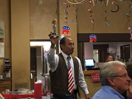 The winning bidder at the GOP's Lincoln Day Dinner