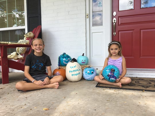Ian Ohlmeyer, 9, left, and sister Lauren, 6,  with