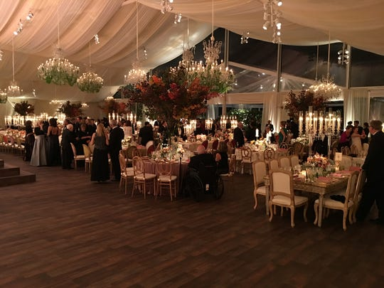 The table settings and tent in which President Barack and first lady Michelle Obama hosted their final state dinner.