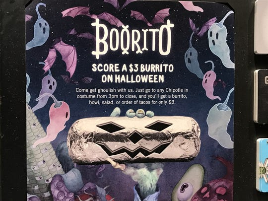 Wearing your Halloween costume to Chipotle has its benefits.