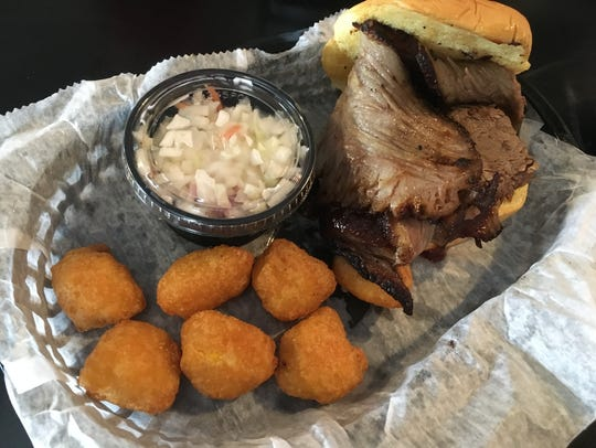Brisket from Twisted Tangle Cafe can be ordered on