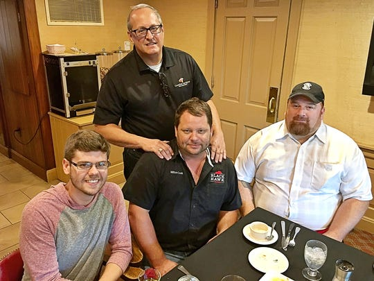 Farm to table  Drew Beasley, Randy Land and Milton Cook sat down to a feast prepared by executive chef Kyle Kellog at the Evansville Country Club after a Farm to Table Fantasy tour of Creation Gardens and Black Hawk Farms.