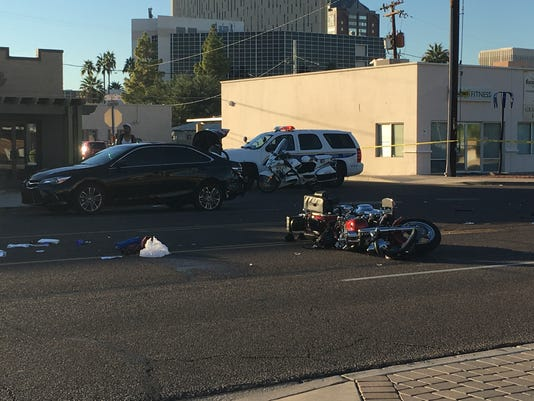 Fatal motorcycle crash in central Phoenix
