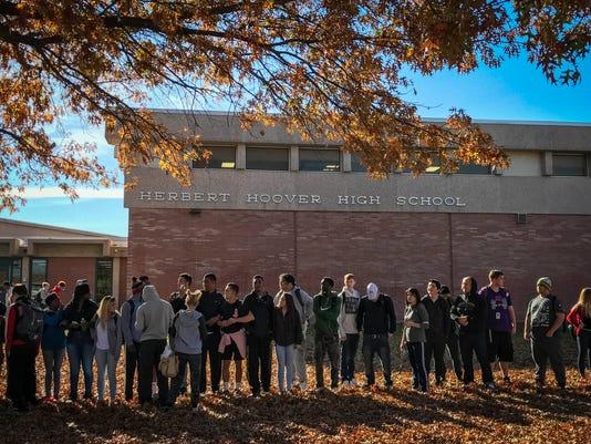 School walkout Hoover