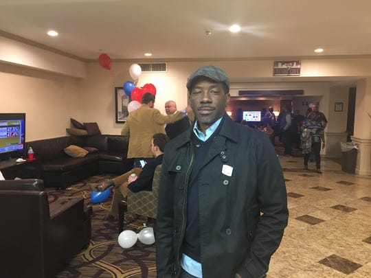 Mark Smith, a Clinton supporter, attends the Delaware Democratic Party event at the DoubleTree Hotel in Wilmington. He hopes Donald Trump will not be as extreme as he sounded during the campaign.