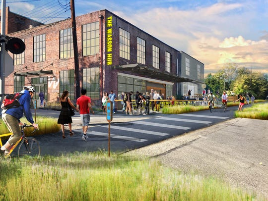 A new rendering of Wasson Way.