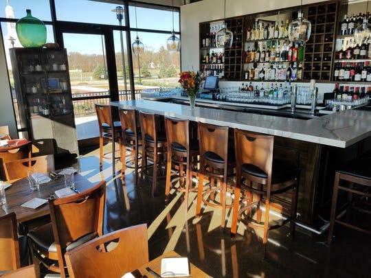 The bar at Convivio  in Carmel has a view of the Italian