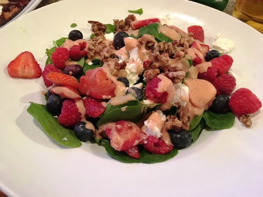 The triple berry spinach salad  from Crave Bar & Food