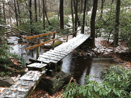 The Terrace Pond North Blue Trail in West Milford
