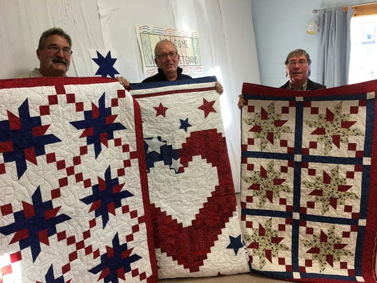 Also receiving quilts were Ron Borchardt of Omro, Dr.