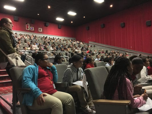 Students attend free Holocaust file at Rutgers