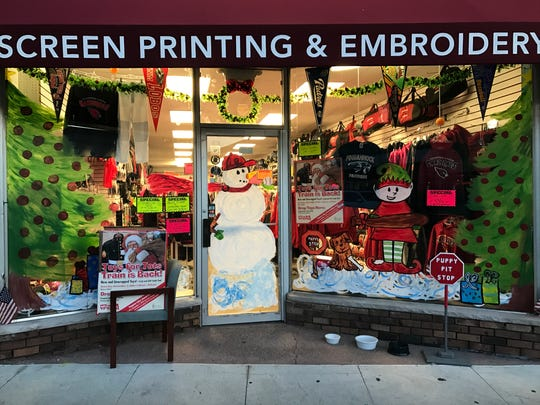 Home Field Advantage Sporting Goods is one of the 19 storefronts in Pompton Lakes painted up for the holiday season in preparation for the upcoming Holiday Stroll. Nov. 28, 2016.