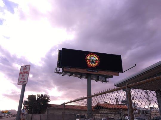 A series of billboards teasing Guns N' Roses' upcoming