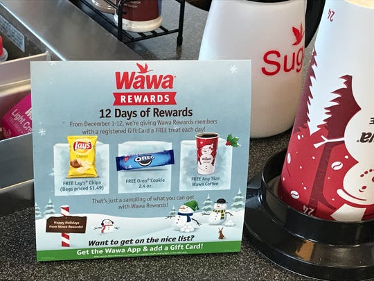 Sign up for Wawa Rewards to take advantage of 12 Days of Rewards Dec. 1-12.