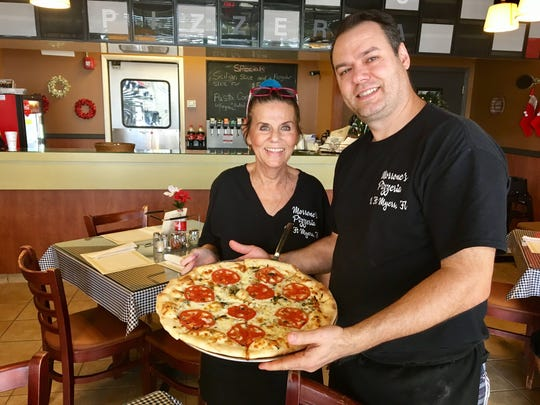 Chef Sal Musso and server Harriet Terrovano at Morrone's