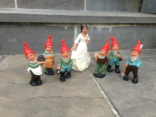 Snow White and the six gnomes.