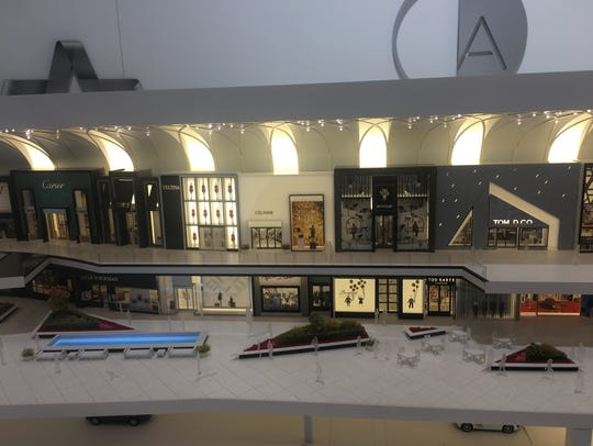 A miniature model of the luxury wing of the American