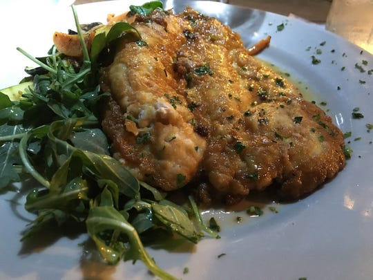 Chicken Romano with arugula, from McGregor Cafe in