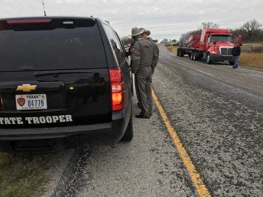 A motorist driving on U.S. 281 south of Windthorst, Texas, was struck and killed by an 18-wheeler Thursday, Dec. 8, 2016.