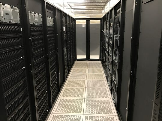 The data center lab at the Binghamton University Innovative Technology Center, where Stanley Whittingham and his associates will perform some of their battery research.