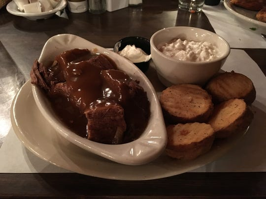 Pot roast from the Log Cabin Inn in Howards Grove.