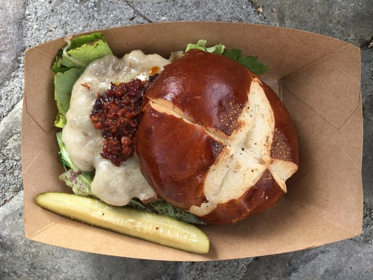 For its maiden voyage, the Deer Xing food truck featured such items as the Buffalo Burger, served with house-made bacon jam and chipotle aioli with local greens and havarti cheese on a pretzel bun. The food truck was launched this month by the owners of the Deer Lodge in Ojai.