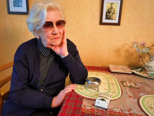 A survivor of Josef Stalin's Soviet-era Gulag labor camps Lyudmila Alekseevna Khachatryan in her apartment in Moscow on Nov. 21, 2016.