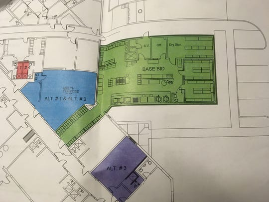 Draft of the expansion plans for the Henderson County Detention Center.