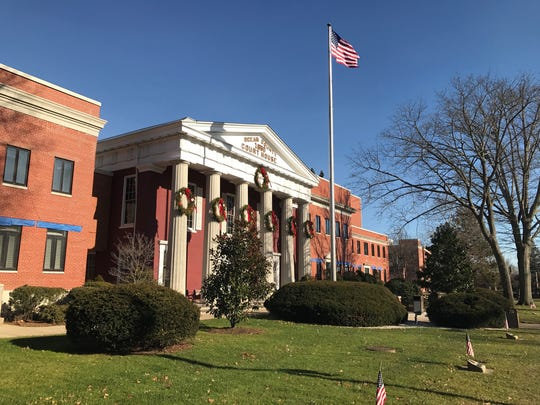 The Ocean County Courthouse, constructed in 1850 when the county was established, was built in the popular 19th century Greek Revival architectural style.