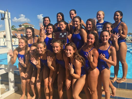 The Titusville girls swimming and diving team placed