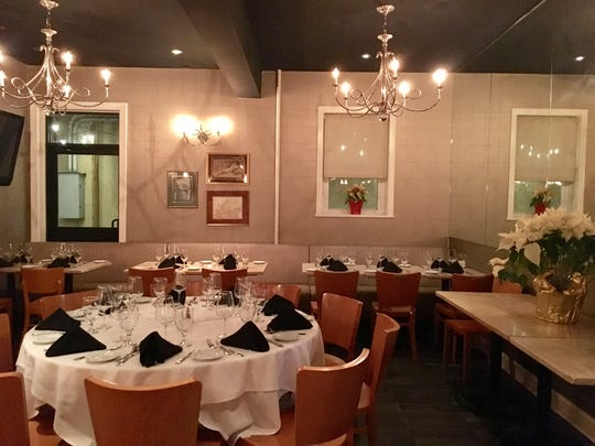 The warm and welcoming atmosphere at Bistro Seven Three in Bernardsville.