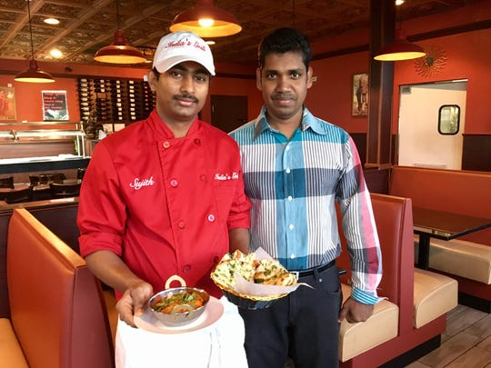Owner Suman Chaniyil, right, and Chef Sujith Nagraj